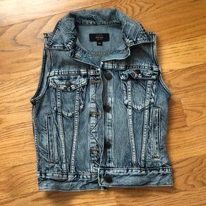 Jcrew sleeveless denim jacket size XXS